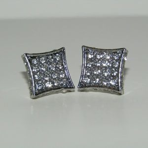 Mens Square stud earrings